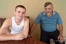 Андрей с любимым тестем Мишелем.