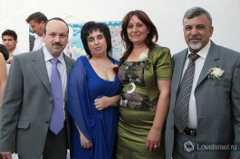 Родители на свадьбе: Евгений и Ирина и Мишель и Самиа.