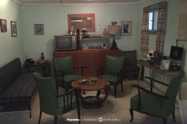 Гостинная дома Бен-Гуриона в киббуце Сде-Бокер.
