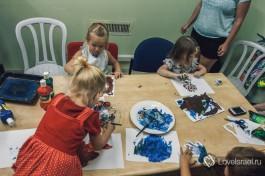В матнасе в Хайфе, провожу урок израильским деткам - учу искусству.
