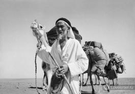 Бедуин в пустыне.