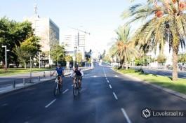 Йом-Киппур - Судный день в Израиле. Пустые дороги Тель-Авива.