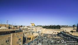 Панорама Стены Плача, Иерусалим.