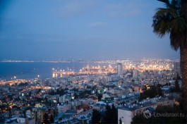 Ночная Хайфа, вид на жилую и промышленную части города. Романтичные прогулки по вечерам )