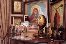 Дом Матушки Георгии, молитвенный угол.