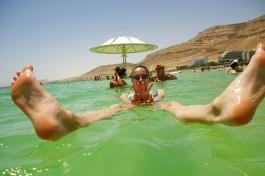 Побывала в Израиле Анна Комова. Мертвое Море.