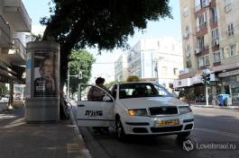Вездесущее израильское такси. Не забывайте попросить водителя включить счетчик!