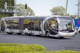 Автобус Метронит. Новый вид транспорта в Хайфе.