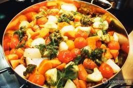 Отвареные овощи. Любите? )