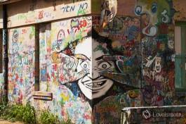 Наружная стена студии Рами, на улице Яркон, Тель-Авив.