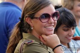 Счастливая обладательница израильского гражданства - младший лейтенант Армии Обороны Израиля.
