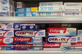 Зубная паста. В районе 15-20 шекелей за тюбик.
