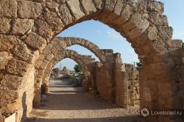 Древняя Кейсария. Ирод существенно отстроил этот город и превратил его в административный центр Римской прокуратуры в Иудее.