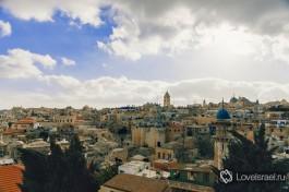 Иерусалим. Панорама с крыши австрийского хостеля.