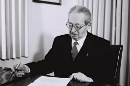 Ицхак Бен-Цви, второй президент государства Израиль.