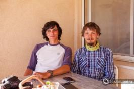 Путешественники Виталий и Антон. Фото - Александра Наумова.